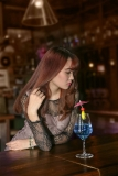 Lonely Young Woman At The Bar (2)