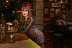 Lonely Young Woman At The Bar (5)