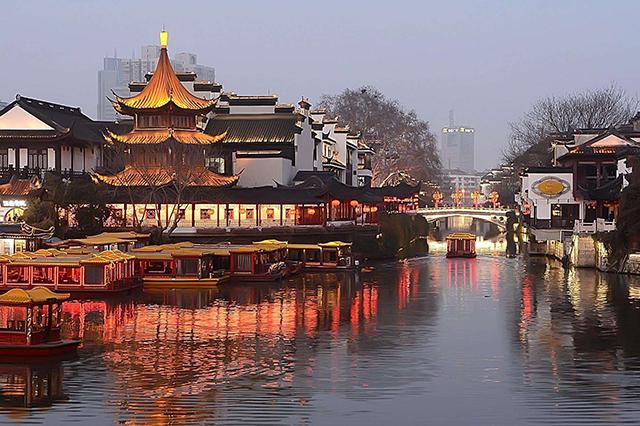 Landmark Buildings in China's Top 10 Cities-Nanjing Confucius Temple