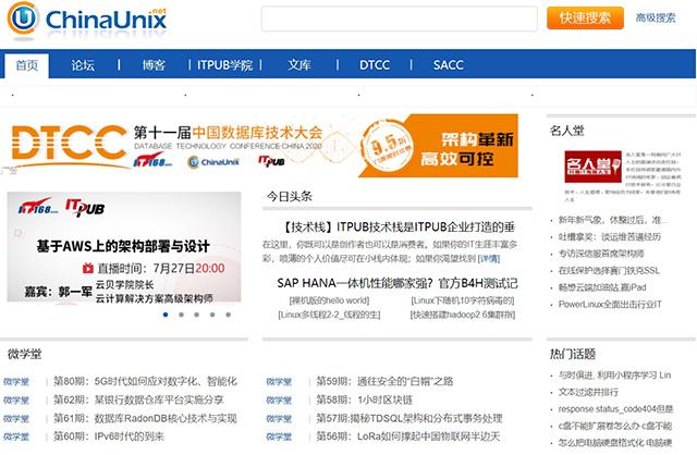 Top 10 Technology Communities in China-ChinaUnix