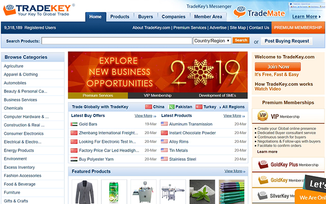 10 Foreign Trade B2B Websites in China-tradekey