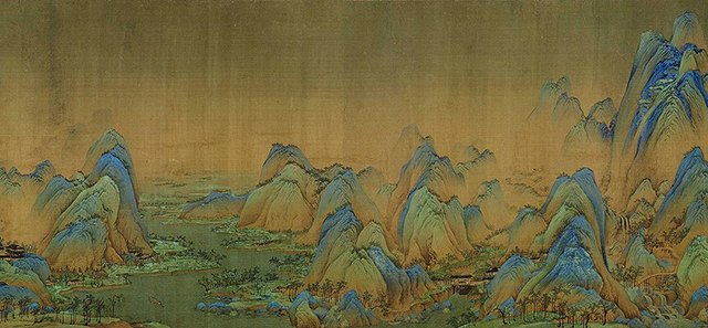 Top 10 Famous Chinese Paintings in Ancient China-A Thousand Miles of Rivers and Mountains