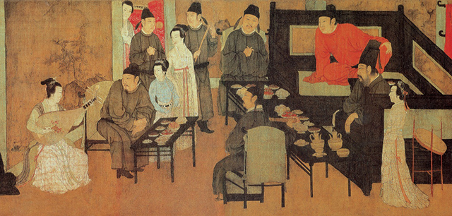 Top 10 Famous Chinese Paintings in Ancient China-Han Xi Zai Night Banquet