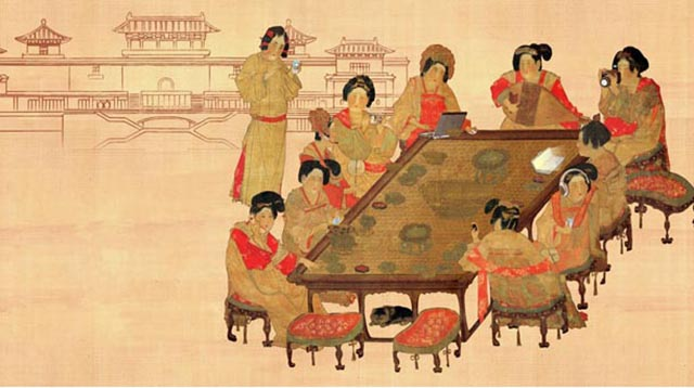 Top 10 Famous Chinese Paintings in Ancient China-Tang Palace Ladies