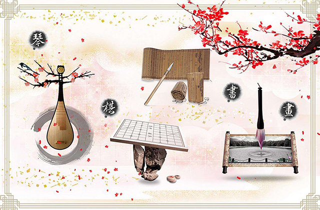 Top 10 Folk Arts in China-piano chess writing painting
